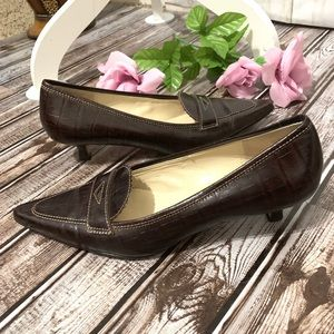 Circa Joan & David Penny Loafers with Heels Sz 6.5